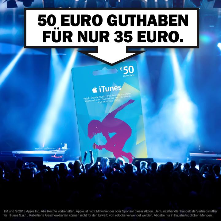 Media Markt gibt satte 30% Rabatt auf 50 Euro iTunes-Karte