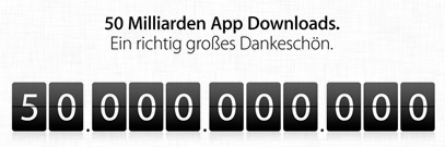 50 Milliarden Downloads