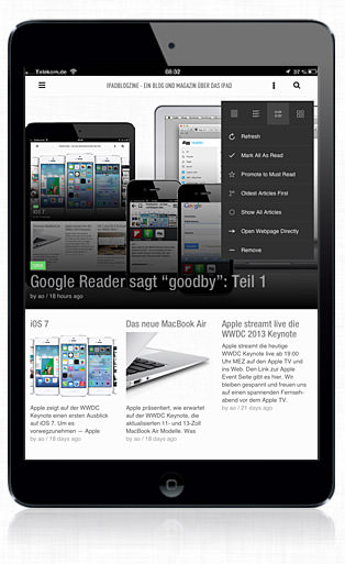 Feedly iPad