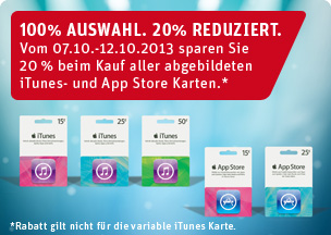 iTunes: 20% Rabatt bei REWE
