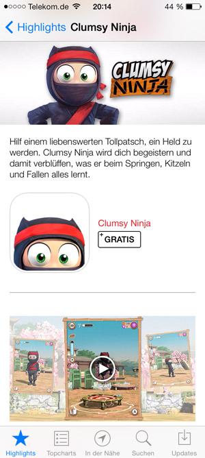 App Store mit Video