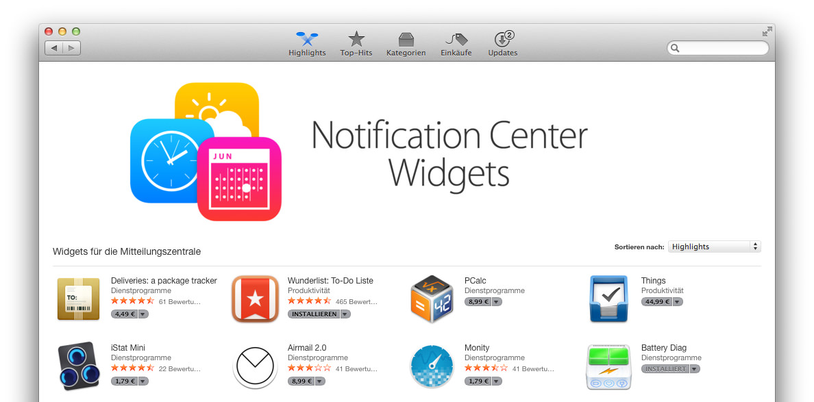 Mac App Store Yosemite Design