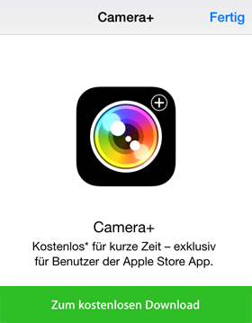 camera+ appstore