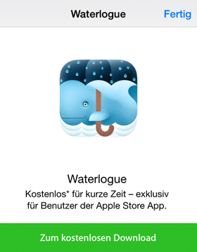 App Store Aktion: Waterlounge