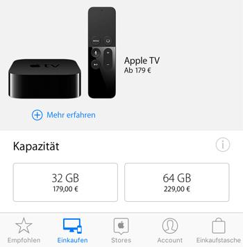 Apple TV Apple Store