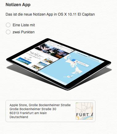 OS X 10.11 Notizen