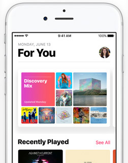 iOS 10 Apple Music hero