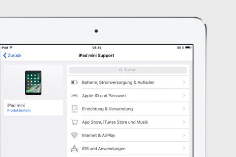 teaser Support App für iOS
