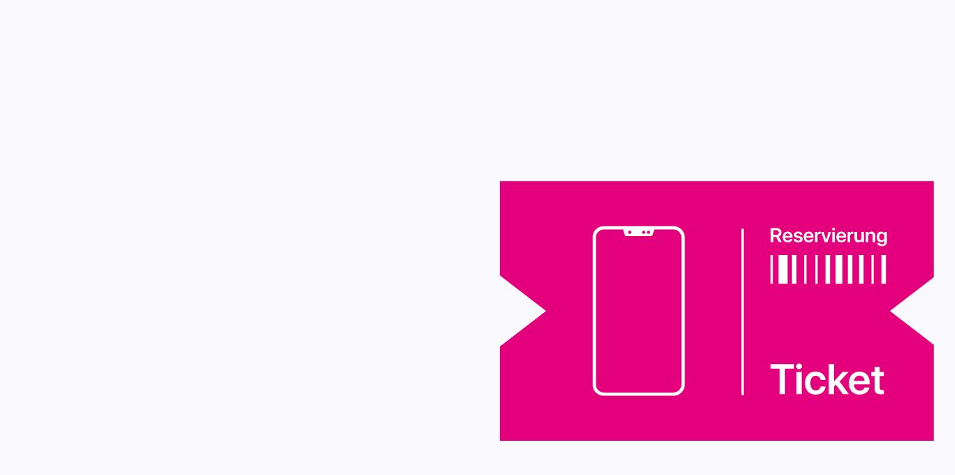 Teaser Telekom Reservierungs-Ticket für das iPhone