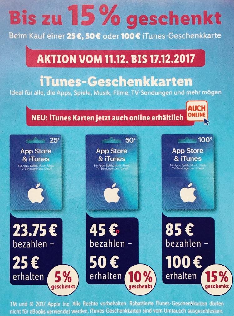 hero iTunes Rabatt bei Lidl