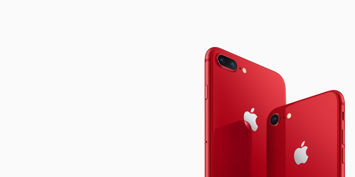 Teaser iPhone 8 und 8 Plus (PRODUCT)RED