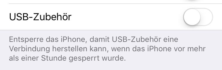 Einstellung für iOS 11.4.1 Restrickt Mode
