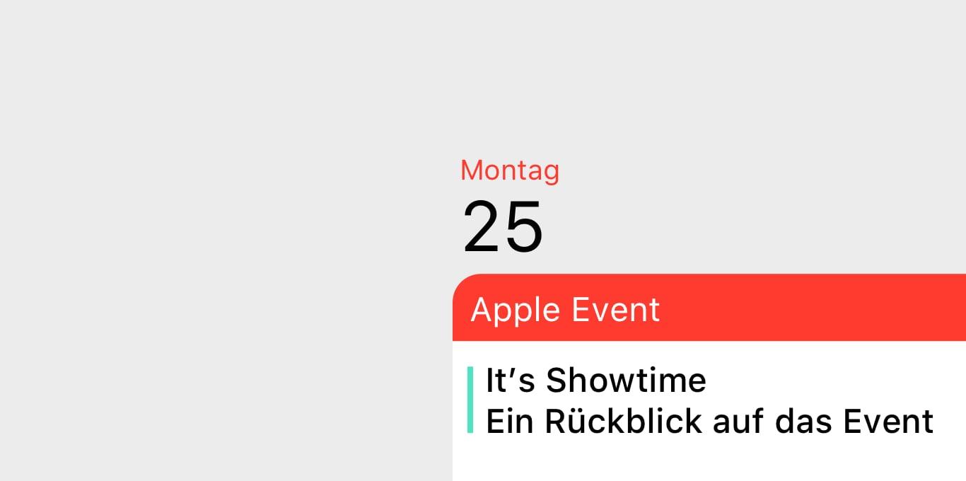 Teaser Apple Event und nun?