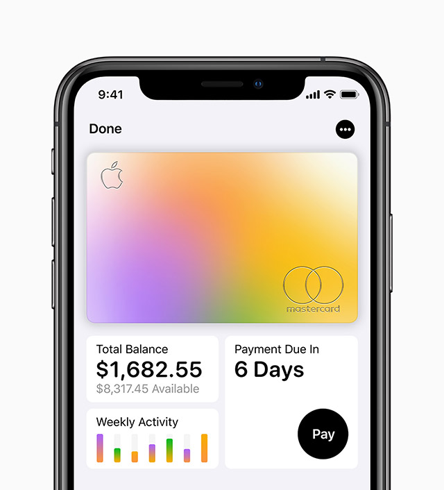 Visual Apple Card in Wallet App