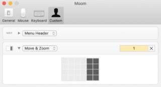 moom Einstellungen in macOS 10.14