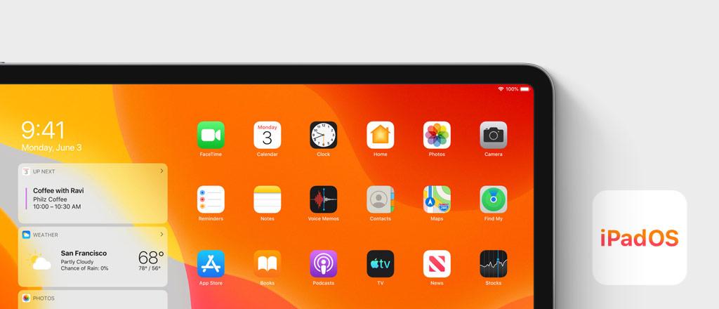 Visual iPadOS Homescreen
