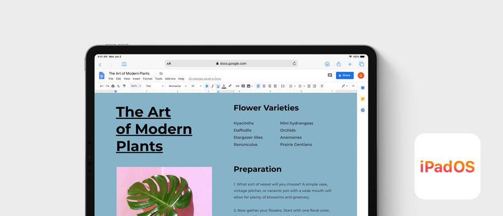 visual iPadOS Safari Browser