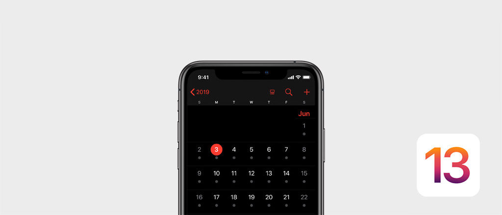 iOS 13 Dark Mode visual