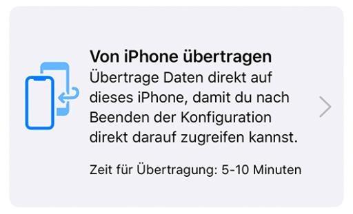 Screenshot iOS 12.4 Migration