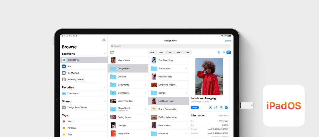 visual iPadOS Dateien App