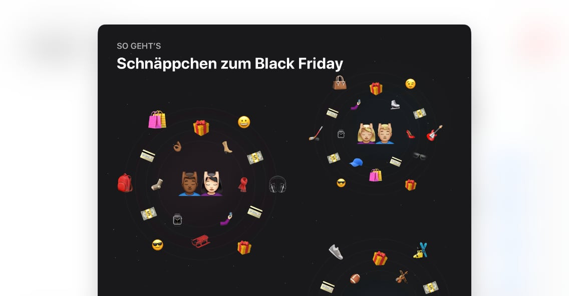 App Store Teaser für den Black Friday