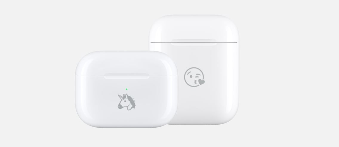 AirPods Cases mit Emoji-Gravur
