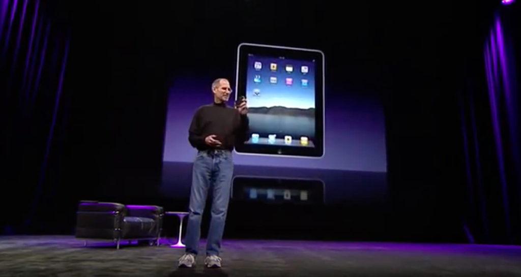 Steve Jobs auf der Bühne 2010