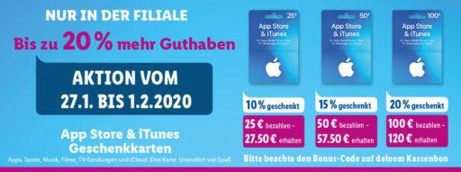 iTunes-Aktions Banner lidl.de