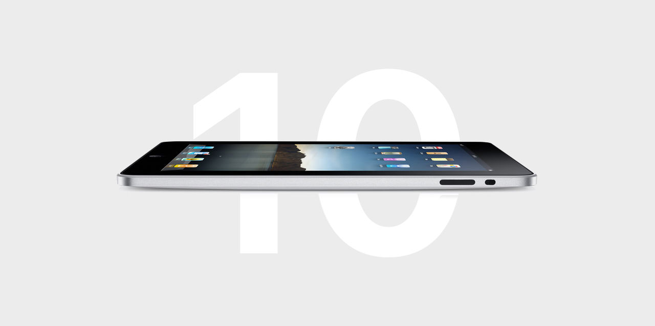 Teaser 10 Jahre iPad