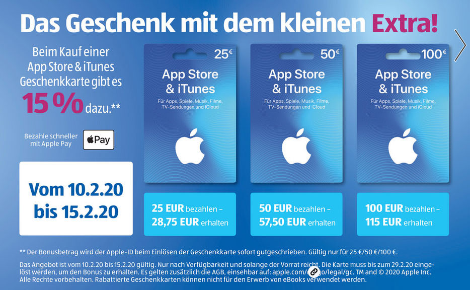 Aldi Prospekt capture 15 % iTunes-Bonus bei Aldi