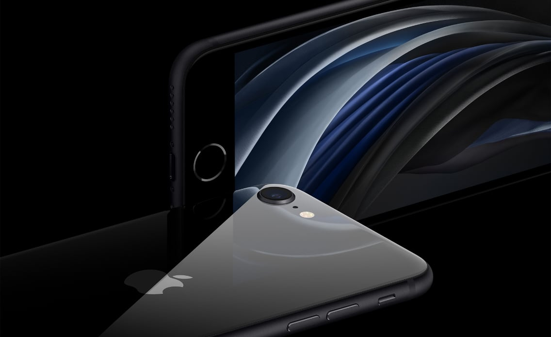 Vorder- und Rückseite des iPhone SE