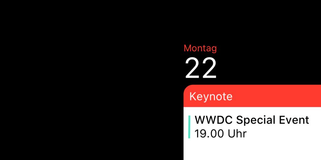 Kalender WWDC 2020