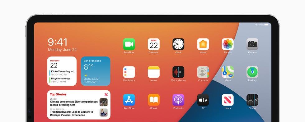 iPad mit iPadOS 14 Betriebssystem