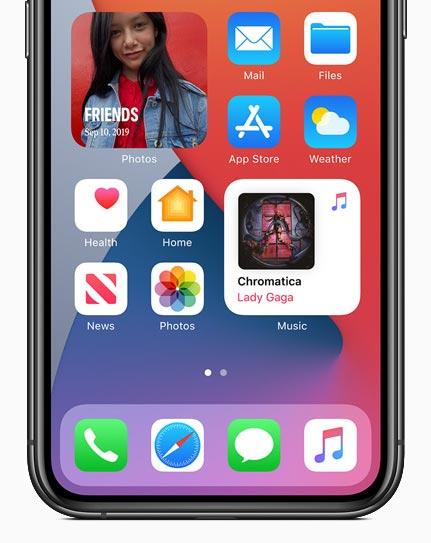 screenhot Widgets in iOS 14