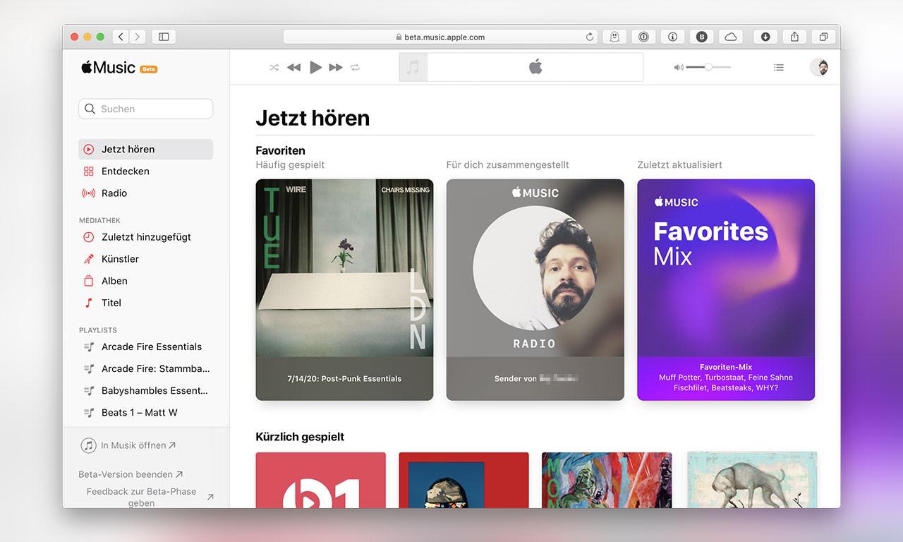 Apple Music Webplayer