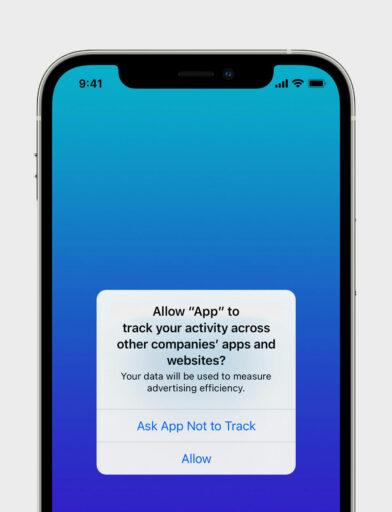"Screen der ""Do not track"" Funktion"