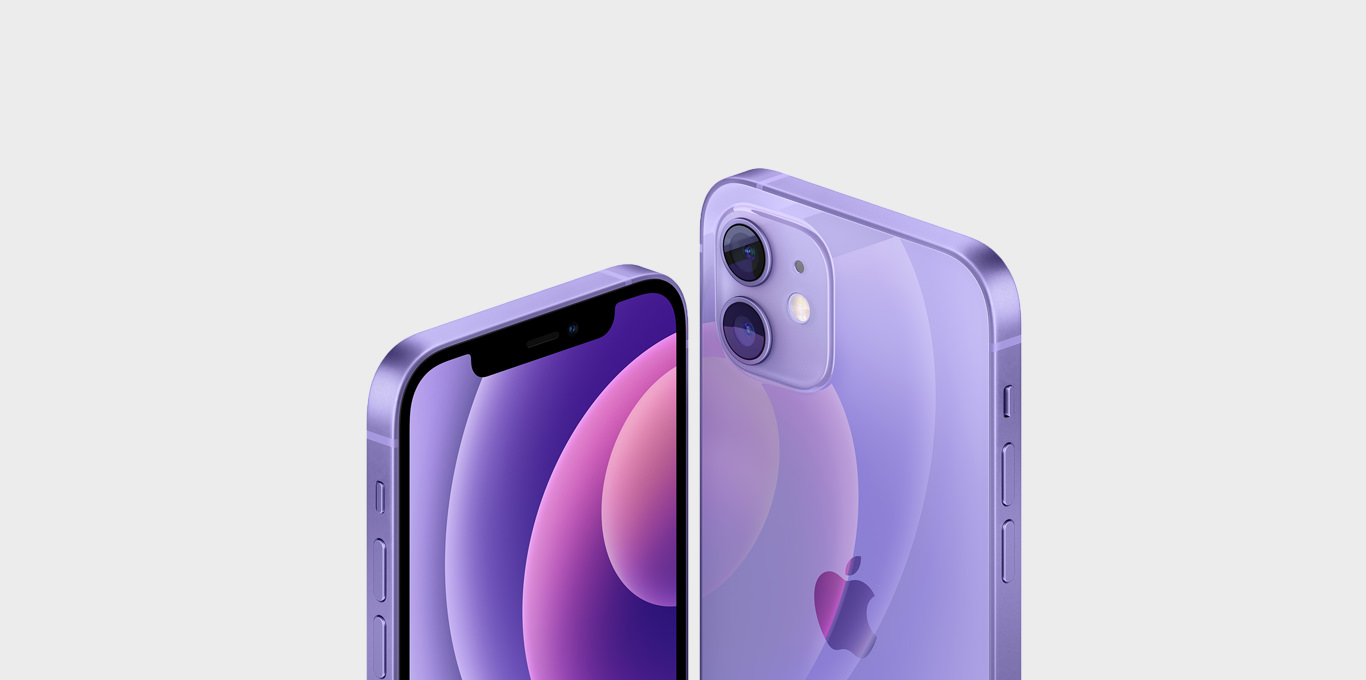 Teaser iPhone 12 in Violett