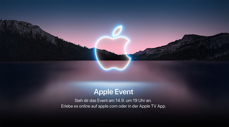 Einladung Apple Event am 14.9.2021